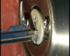 Key in door lock V1 - PAL Stock Footage