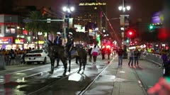 New Orleans Police Officers on Horseback 2393 Stock Footage