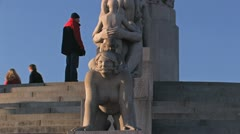 Vigeland Sculpture Park Oslo Norway Stock Footage