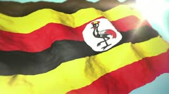 3d flag  Uganda Stock Footage