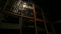 Recording Studio Intimidating Rack Of Gear Stock Footage