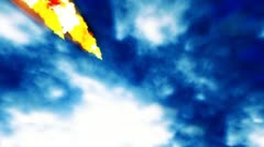 Falling sparks and flames - stock footage