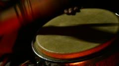 Man drums Stock Footage