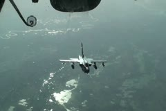 Royal Air Force GR4 Tornado Aerial Refueling Stock Footage
