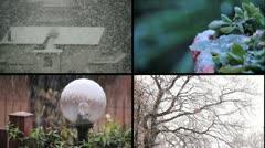 Snowfall - Multiscreen - stock footage