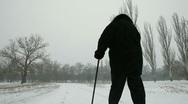 Stock Video Footage of Senior Woman Walking Away