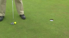 Short Golf Putt Stock Footage