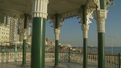 Brighton bandstand glidecam (one) Stock Footage