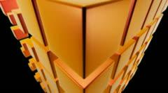 Orange dice Stock Footage