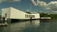 Leaving the USS Arizona Memorial Stock Footage