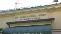 Botanical Garden Sign zoom in Stock Footage