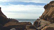 Stock Video Footage of Salt Point Moon Rocks Coastal Arch pan
