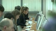 Stock Video Footage of Students in the library for computers.