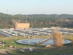 Waterworks pool clean Stock Footage