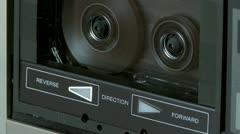 Audio Cassette fast rewind  Stock Footage