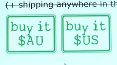 """Buy it"" button. Internet Shopping. Stock Footage"