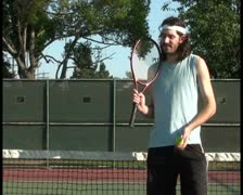 Tennis player V1 - PAL Stock Footage