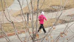 Woman Exercising Running - stock footage