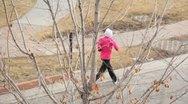 Woman Exercising Running Stock Footage