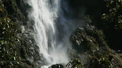 Sutherland Falls close up - stock footage