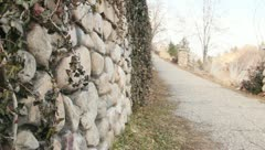 Cobble Stone Walkway Stock Footage