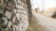 Cobble Stone Walkway (2) Stock Footage
