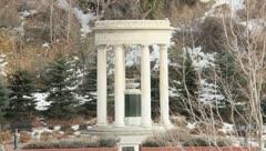 White Pillar Monument Stock Footage