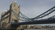 Amazing Tower Bridge Stock Footage