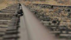 Train Tracks Rust Abandoned 2 Stock Footage