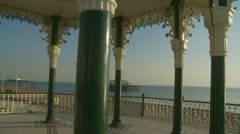 Brighton bandstand glidecam (three) Stock Footage