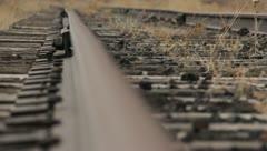 Train Tracks Rust Abandoned 4 Stock Footage