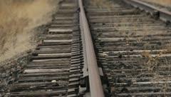 Train Tracks Rust Abandoned 6 Stock Footage