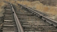 Train Tracks Rust Abandoned 7 Stock Footage