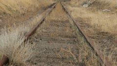 Train Tracks Rust Abandoned 10 Stock Footage