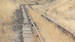 Train Tracks Rust Abandoned 13 Stock Footage