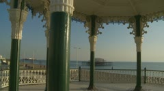 Brighton bandstand glidecam (four) Stock Footage