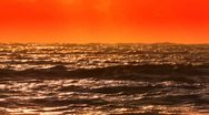 Orange Sea and horizon Stock Footage