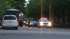 Presidential Motorcade Washington, DC - stock footage