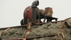 Stock Video Footage of Old Rusty Pump Equipment