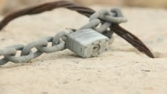 Chain on a Rock 2 Stock Footage