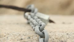 Chain on a Rock 3 Stock Footage