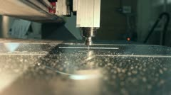 CNC milling machine - stock footage