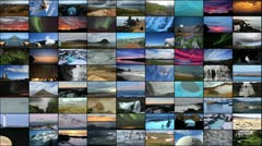 Icelandic Nature Compilation Stock Footage