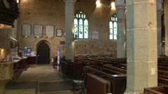 Church Pews Stock Footage