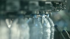 Production of clean water bottles - stock footage
