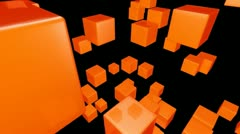 Orange array Stock Footage