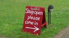 Shop Open Board Stock Footage