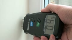 Digital Damp Detector Electronic Tool Stock Footage