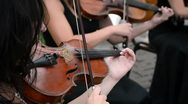 Violin musician playing Stock Footage