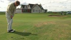 Long Golf Putt Stock Footage